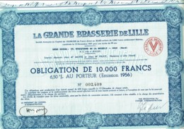 59-BRASSERIE DE LILLE. LA GRANDE ...Oblig 1956 - Actions & Titres