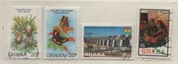 Ghana 1982 MiNr.: 921; 928; 937; 960 Gestempelt; Used Scott:782; 789; 800; 818 Yt: 734; 740; 749; 766 - Ghana (1957-...)