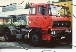 PHOTO COULEUR. CAMION REMORQUE DAF . - Automobiles