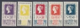 MEXICO 1940 CENTENARIO PRIMER SELLO Nº 543/547 - Mexiko