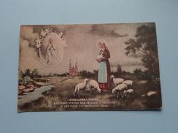 Oostacker-Lourdes / Aan Hare Voeten Heb Ik Voor U Gebeden ( Uitg. M. Nonkel Gent ) Anno 19?? ( Zie / Voir Photo ) ! - Lieux Saints