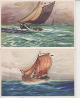 VOILIERS  -  LOT DE 10 CARTES  -  Ed  COLOPRINT  - Imprimé En Belgique  - - Sailing Vessels