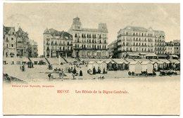 CPA - Carte Postale - Belgique - Heyst - Les Hôtels De La Digue Centrale - 1901 (B8999) - Heist