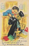 Illustration J. Gougeon - Je Ne Pourrai Jamais Me Consoler... Il Y A Des Compensations Cher Maître (Avocate) - Gougeon