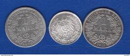 Allemagne  3  Pieces  Arg - [ 2] 1871-1918 : German Empire