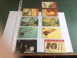 Macau - 9 Different GPT Cards - Macau