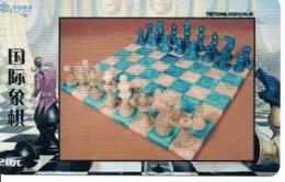 échec Chess Schach  Télécarte Chine Phonecard  (D 520) - Jeux
