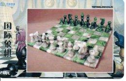 échec Chess Schach  Télécarte Chine Phonecard  (D 522) - Games
