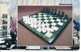échec Chess Schach  Télécarte Chine Phonecard  (D 524) - Games