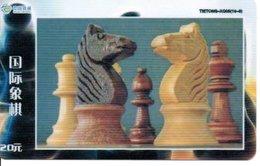 échec Chess Schach  Télécarte Chine Phonecard  (D 526) - Jeux