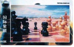 échec Chess Schach  Télécarte Chine Phonecard  (D 527) - Jeux