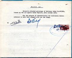 LIBAN TIMBRE FISCAL SUR RAPPORT D'ENQUETE SUR MARCHANDISES 1972 PHOTOS R/V - Libanon