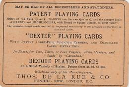Advert  DE LA RUE Playing Cards  Advert   E109 - Advertising