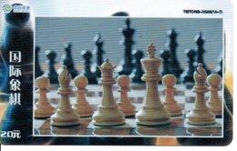 échec Chess Schach  Télécarte Chine Phonecard  (D 528) - Games
