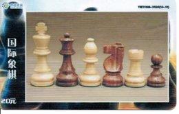 échec Chess Schach  Télécarte Chine Phonecard  (D 529) - Games