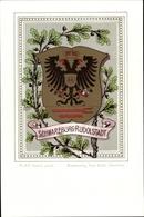 Blason Lithographie Schwarzburg Rudolstadt, Eichenlaub - Royal Families
