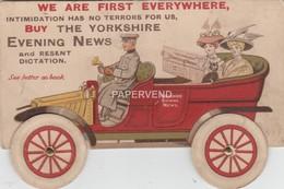 Advert  YORKSHIRE EVENING NEWS Mechanical  Advert  1909  E110 - Advertising