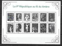 France 2013 Bloc Feuillet F4781 Marianne De La Vème République  état Luxe - 2008-13 Marianne Of Beaujard