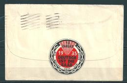 """Tag Der Volksabstimmung """"DEUTSCH IST DIE SAAR WIR WOLLEN HEIM INS REICH""""  13.01.1935 - 1920-35 Société Des Nations"""