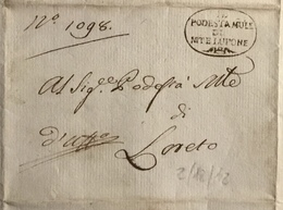 1812 MONTELUPONE PER LORETO - ...-1850 Préphilatélie