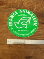 Sticker Autocollant Ancien - France Animalerie - Limoges - Animaux - Autocollants