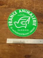 Sticker Autocollant Ancien - France Animalerie - Limoges - Animaux - Pegatinas
