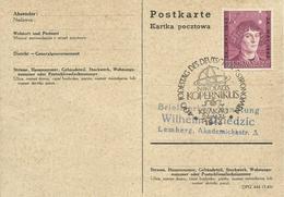 POLONIA, TARJETA POSTAL, CONMEMORACION COPERNICO - 1939-44: 2ª Guerra Mundial