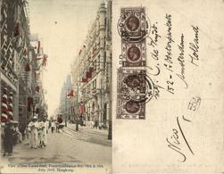 China, HONG KONG, Des Voeux Road, Peace Celebration Day July 1919 Postcard - China (Hong Kong)