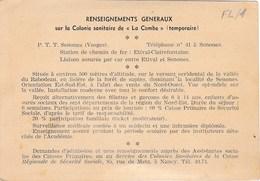"""SENONES. Colonie Sanitaire De """"LA COMBE"""" - Senones"""
