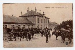 - CPA COGNAC (16) - Vue Extérieure De La Gare (belle Animation) - Photo COLLAS - - Cognac