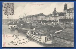 ROUEN    Quai De La Bourse    Animées   écrite En 1904 - Rouen