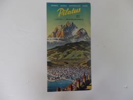 Dépliant Touristique Mt Pilate Lucerne Suisse Centrale. - Folletos Turísticos