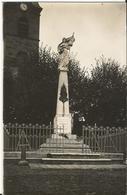 CPA - 52- Carte Photo - Monument Aux Morts De Marcilly En Bassigny - Photo Chatelet à Preigney - Chaumont