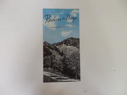 Dépliant Touristique Rochers De Naye Montreux Suisse. - Dépliants Turistici