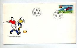 Lettre Cachet Prague 1986 Football Mexico - Czechoslovakia