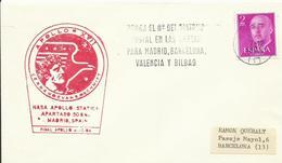 ESPAÑA, SOBRE  CONMEMORATICO COLABORACION ESPAÑA APOLO MISION - 1931-Hoy: 2ª República - ... Juan Carlos I