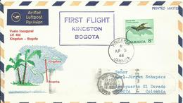 JAMAICA, SOBRE CONMEMORATIVO PRIMER VUELO KINGSTON/BOGOTA - Jamaica (1962-...)