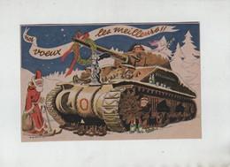 Nos Voeux Les Meilleurs Strasbourg 1944 Sabran Char Père Noel - 1939-45