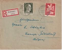 ALLEMAGNE 1943 LETTRE RECOMMANDEE DE STRALSUND - Deutschland