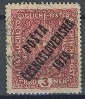 Tchécoslovaquie 1919 52 I (Yv 59b), Obliteré - Oblitérés