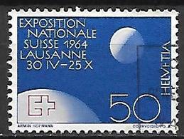 SUISSE    -   1963 .    Y&T N° 719 Oblitéré.  Lune - Switzerland
