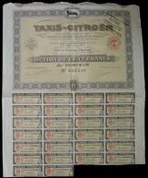 TAXIS - CITROËN . ACTION DE CENT FRANCS AU PORTEUR . 1924 . - Automobile