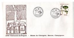DORDOGNE - Dépt N° 24 = VILLEFRANCHE Du PERIGORD 1987 =  CACHET Illustré + N° 2491 = INAUGURATION MAISON CHATAIGNIER - Marcophilie (Lettres)