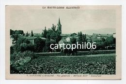 - CPA SANSSAC-L'EGLISE (43) - Vue Générale (avec Attelage De Boeufs) - Editions APA-POUX N° 1 - - Frankrijk