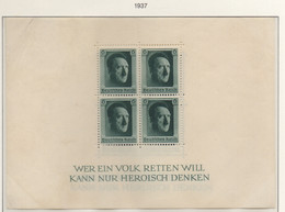 PIA  -  GERMANIA  -  1937  : 48° Compleanno Di Hitler  -   (Yv  Bf  8) - Deutschland
