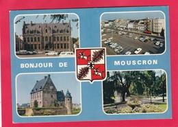 Modern Multi View Post Card Of Mouscron, Walloon Region, Belgium,B42. - Mouscron - Möskrön