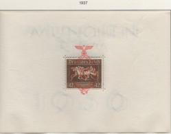 """PIA  -  GERMANIA  -  1937  : Foglietto Precedente Per La Corsa Ippica """"Nastro Bruno"""" Sovrastampato  -   (Yv  Bf  7) - Deutschland"""