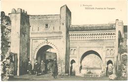POSTAL   TETUAN -MARRUECOS  - PUERTA DE TANGER - Marruecos
