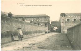 POSTAL   TETUAN -MARRUECOS  - PUERTA DE FEZ Y CUARTEL DE REGULARES - Marruecos