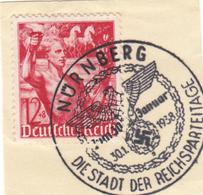 REICH TIMBRE 604 SUR FRAGMENT - Germania